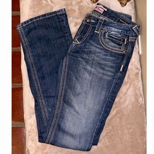 Express Barely Bootcut Jeans